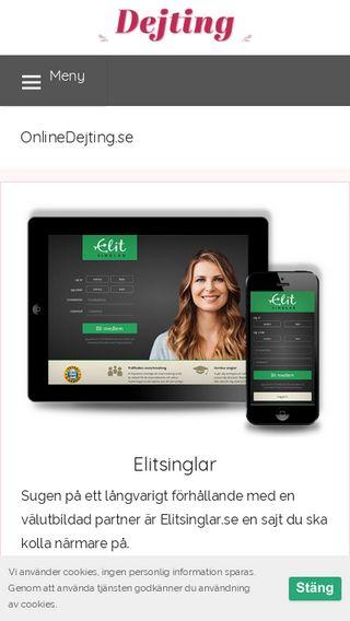 Mobile preview of onlinedejting.se