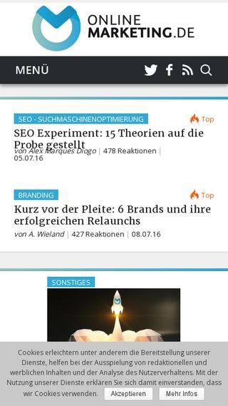 Mobile preview of onlinemarketing.de