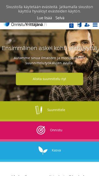 Mobile preview of onnistuyrittajana.fi