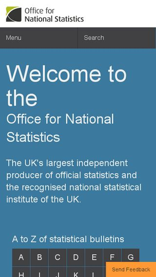Mobile preview of ons.gov.uk