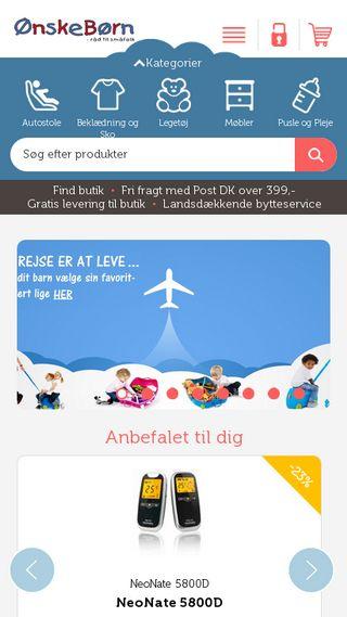 Mobile preview of onskeborn.dk