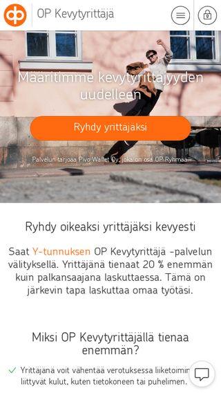 Mobile preview of op-kevytyrittaja.fi