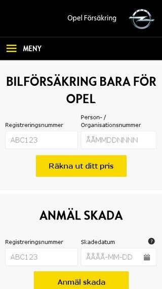 Mobile preview of opelforsakring.se
