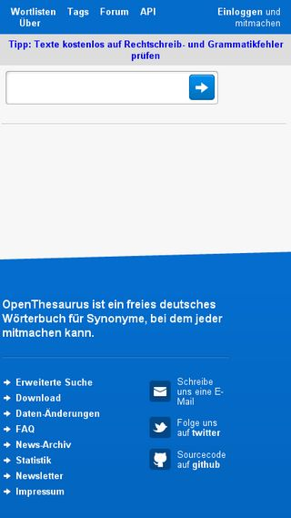 Mobile preview of openthesaurus.de