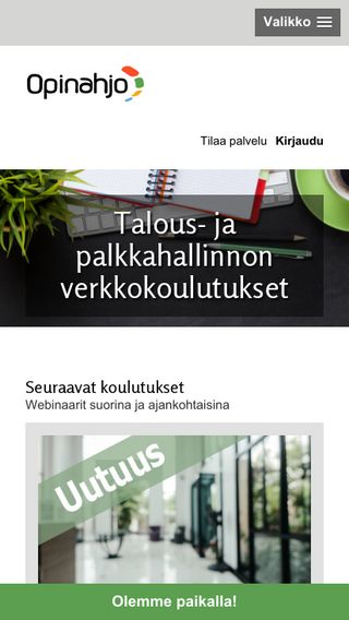 Mobile preview of opinahjo.fi