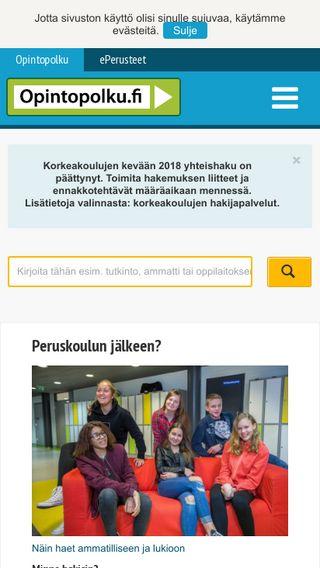 Mobile preview of opintopolku.fi