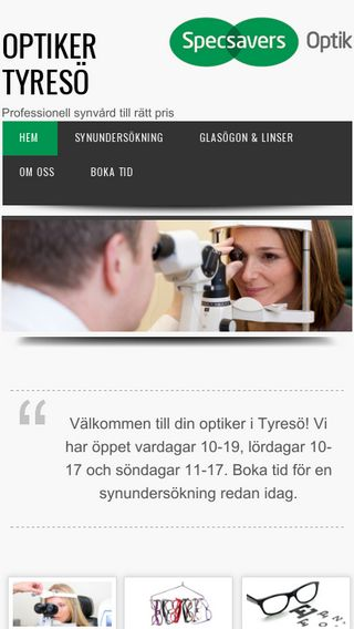 Mobile preview of optikertyreso.se