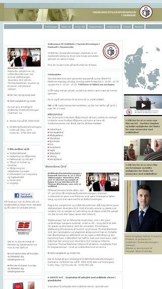 Mobile preview of ordblindeforeningen.dk