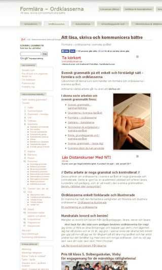 Mobile preview of ordklasser.se