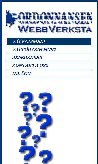 Mobile preview of ordonnansen.se