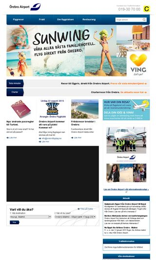 Mobile preview of orebroairport.se