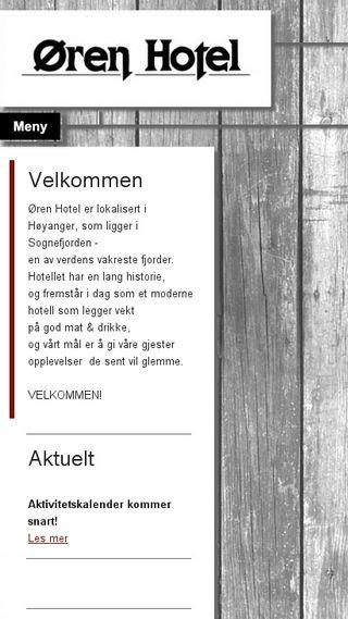 Mobile preview of orenhotel.no