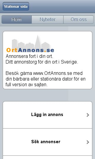 Mobile preview of ortannons.se