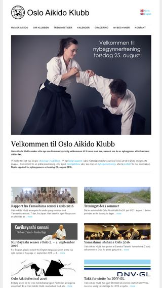 Mobile preview of osloaikido.no