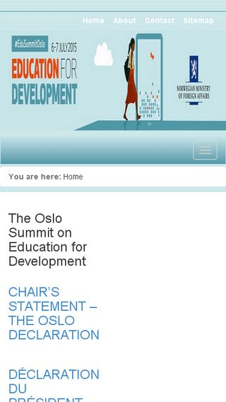 Mobile preview of osloeducationsummit.no