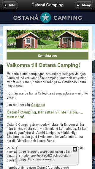 Mobile preview of ostanacamping.se