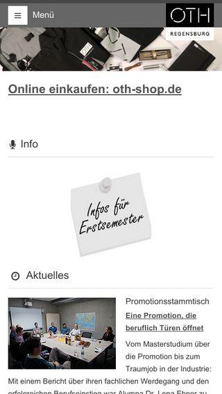 Mobile preview of oth-regensburg.de