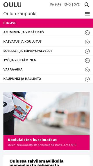Mobile preview of ouka.fi