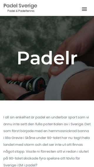 Mobile preview of padelr.se
