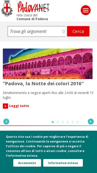 Mobile preview of padovanet.it