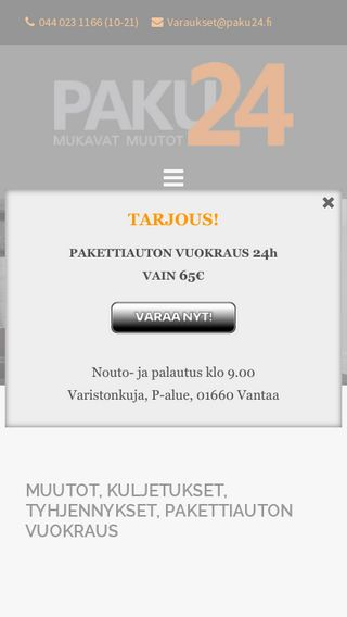 Mobile preview of paku24.fi