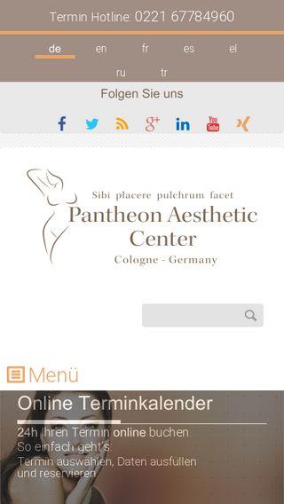 Mobile preview of pantheon-aesthetic-center.de