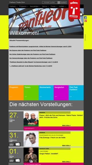 Mobile preview of pantheon.de