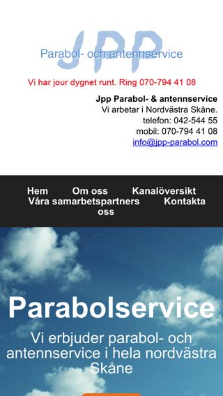 Mobile preview of parabolservice.nu