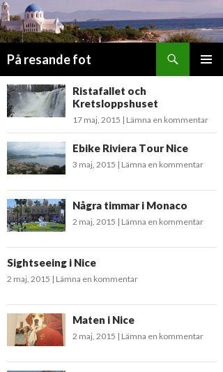 Mobile preview of paresandefot.se