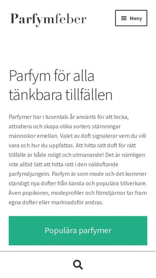 Mobile preview of parfymfeber.se