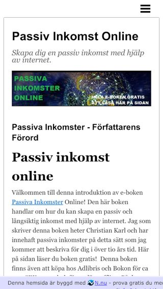 Mobile preview of passivinkomst.n.nu