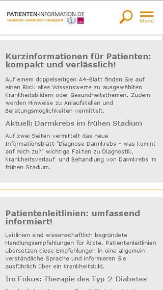 Mobile preview of patienten-information.de
