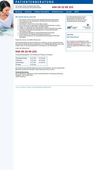 Mobile preview of patientenberatung-hamburg.de