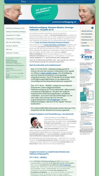 Mobile preview of patientenverfuegung.de