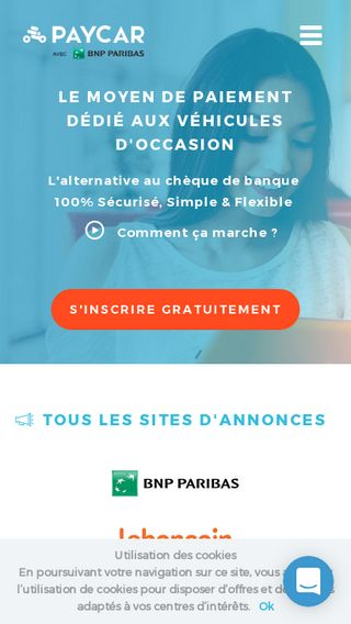 Mobile preview of paycar.fr