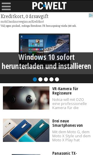 Mobile preview of pcwelt.de
