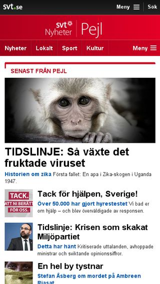 Mobile preview of pejl.svt.se