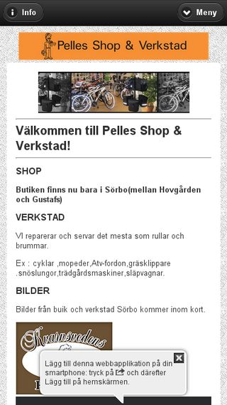Mobile preview of pellesshop.se