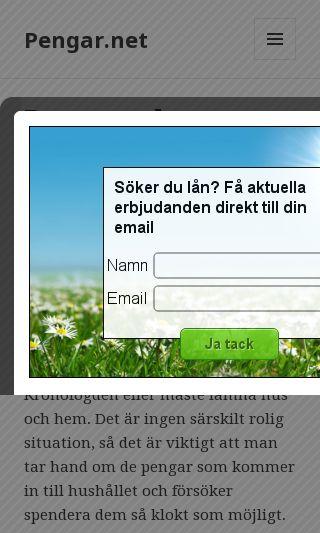 Mobile preview of pengar.net