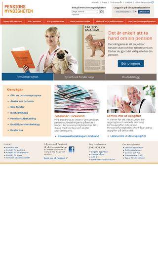 Mobile preview of pensionsmyndigheten.se
