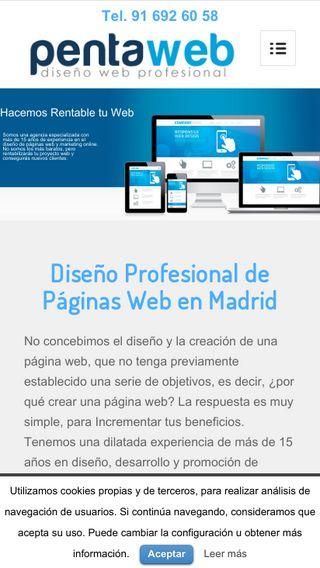 Mobile preview of pentaweb.es