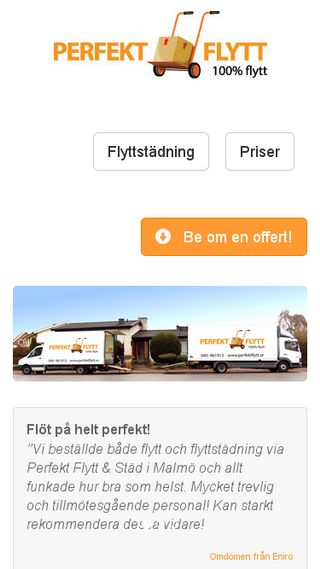 Mobile preview of perfektflytt.se