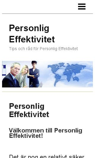 Mobile preview of personligeffektivitet.eu