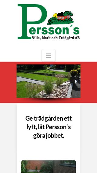 Mobile preview of perssonsvmt.se