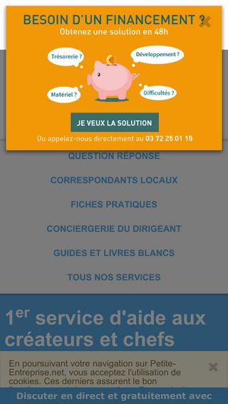 Mobile preview of petite-entreprise.net