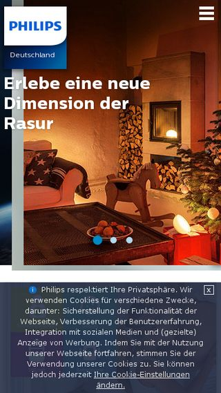 Mobile preview of philips.de