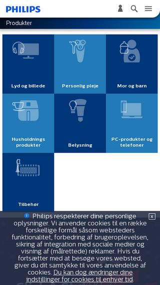 Mobile preview of philips.dk