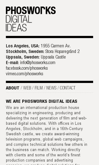 Mobile preview of phosworks.se