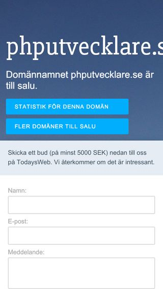 Mobile preview of phputvecklare.se