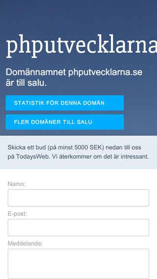 Mobile preview of phputvecklarna.se